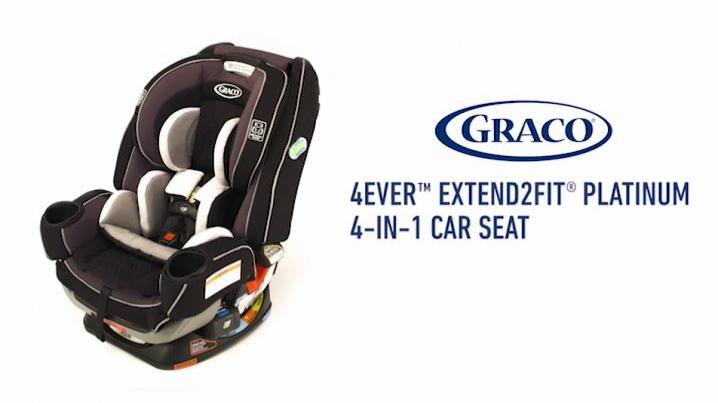 Graco 4Ever Extend2Fit Platinum All In One Convertible Car Seat 1061382046