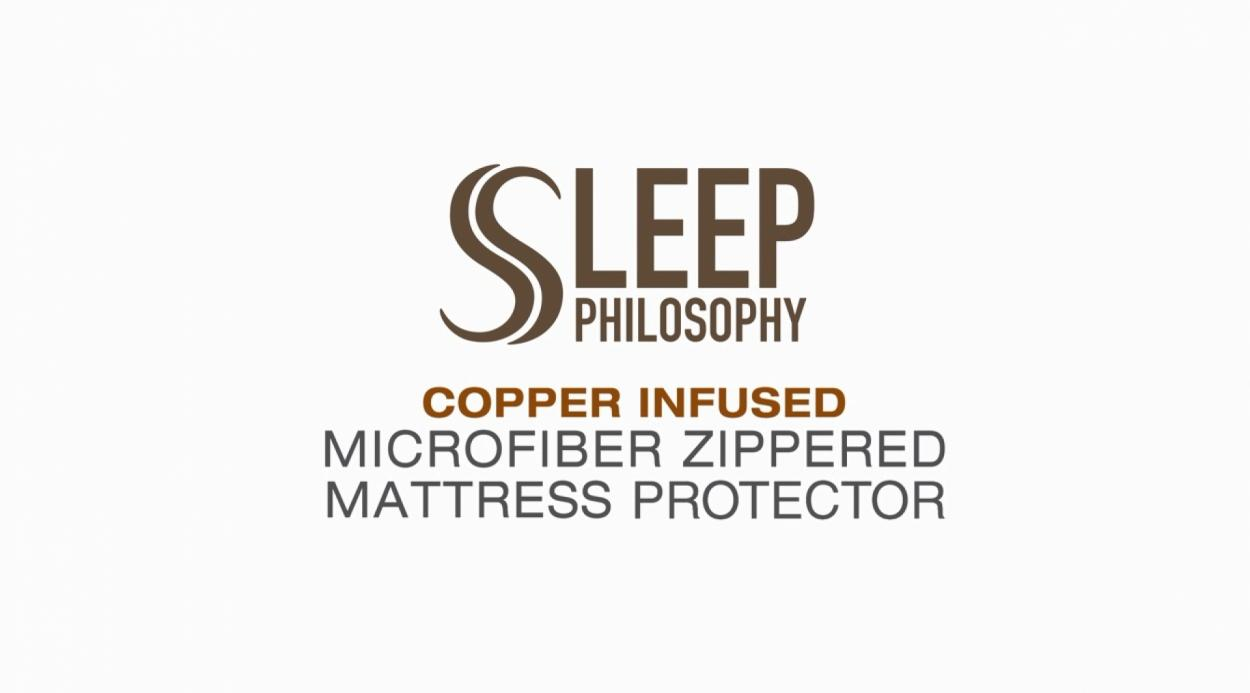 Sleep Philosophy Copper Infused Mattress Protector