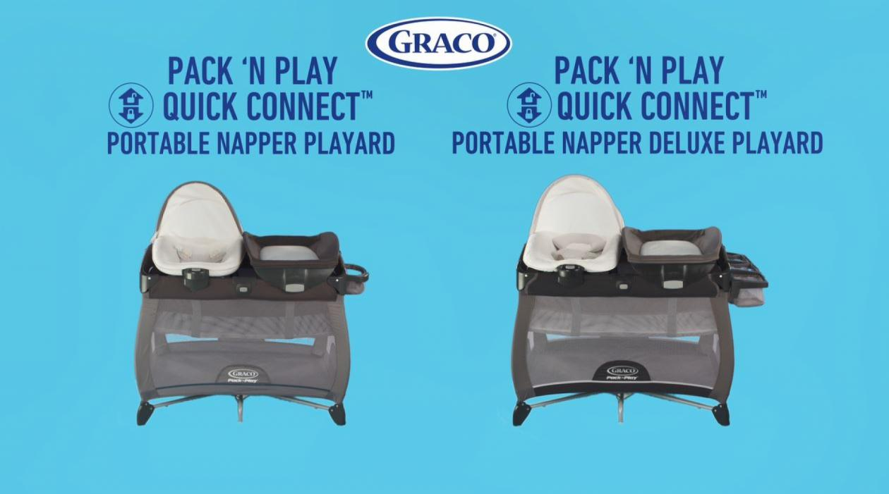 Graco Pack 'n Play Playard Quick Connect Portable Napper with Bassinet in Ashland