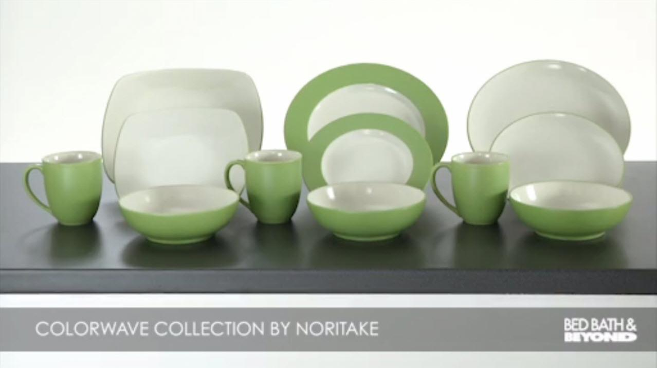 Noritake® Colorwave Coupe Dinnerware Collection in Turquoise - Bed ...