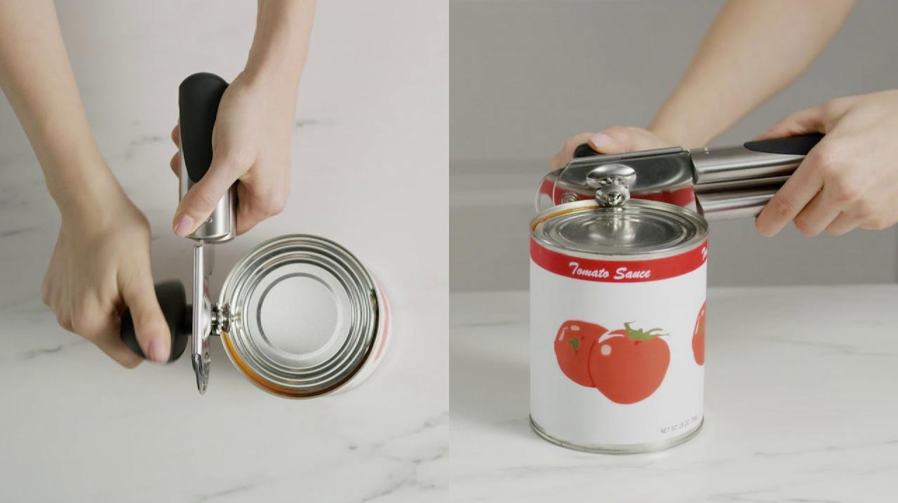 oxo can opener how to use