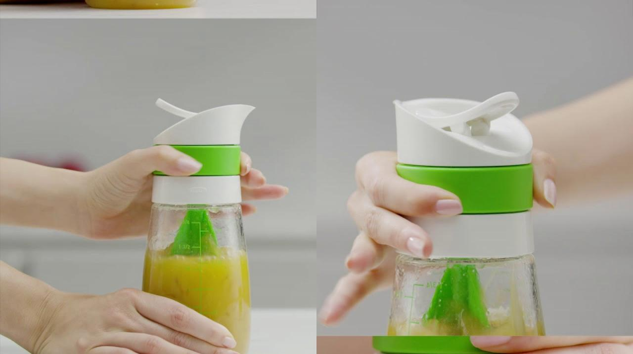 oxo good grips twist and pour 14 oz salad dressing mixer. Black Bedroom Furniture Sets. Home Design Ideas