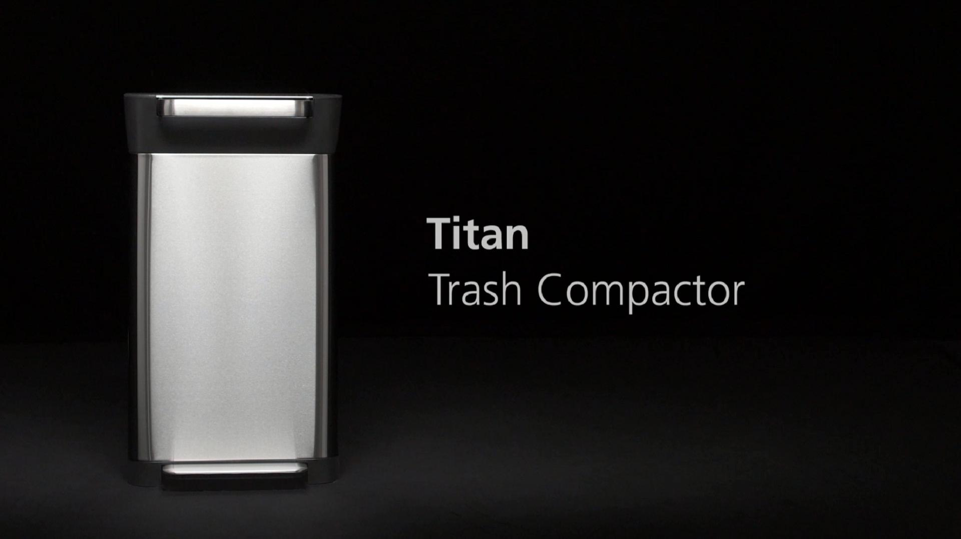 Joseph Joseph® Titan Compacting Waste Can in Stainless Steel