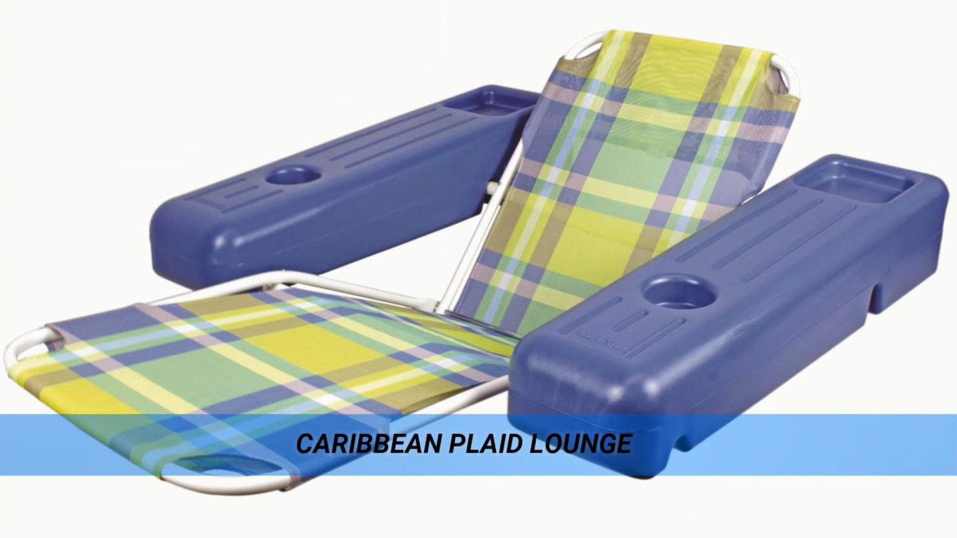 Poolmaster® Caribbean Floating Lounge Chair in Plaid