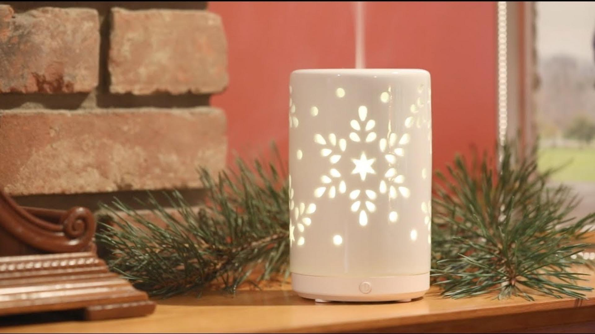 SpaRoom Snowflake Ceramic Holiday Ultrasonic Essential Oil Diffuser