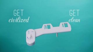 Squatty Potty Refresh It Toilet Seat Water Bidet In White Bed