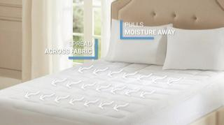 Smart Cool by Sleep Philosophy Microfiber Coolmax Mattress Pads