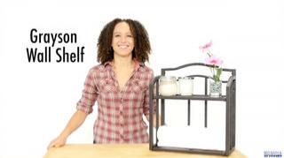 grayson wall shelf video grayson metal tower collection bed bath beyond