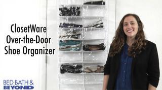 closetware clear over the door 26 pocket shoe organizer bed bath beyond. Black Bedroom Furniture Sets. Home Design Ideas
