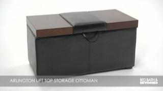 Arlington Lift Top Storage Ottoman Bed Bath Amp Beyond