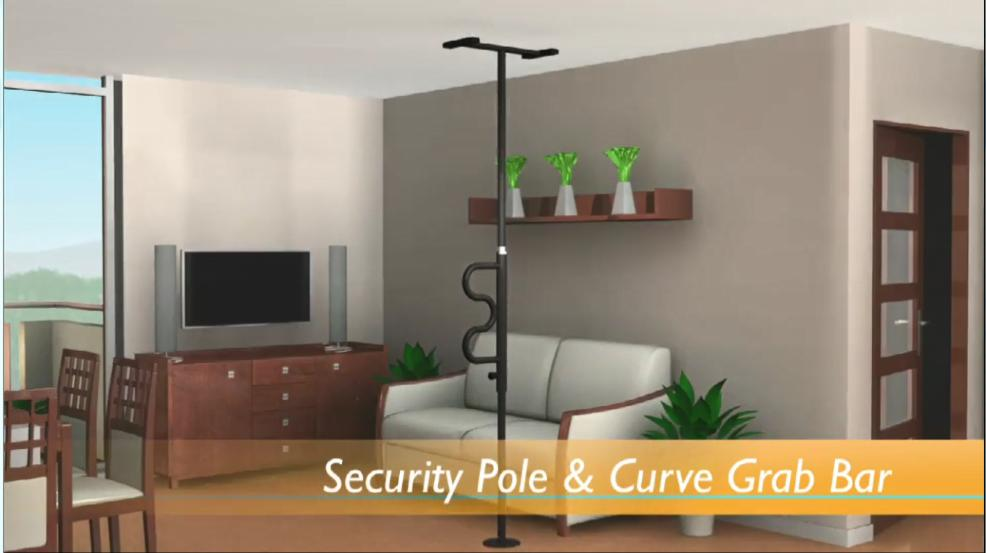 Security Pole And Curve Grab Bar Video