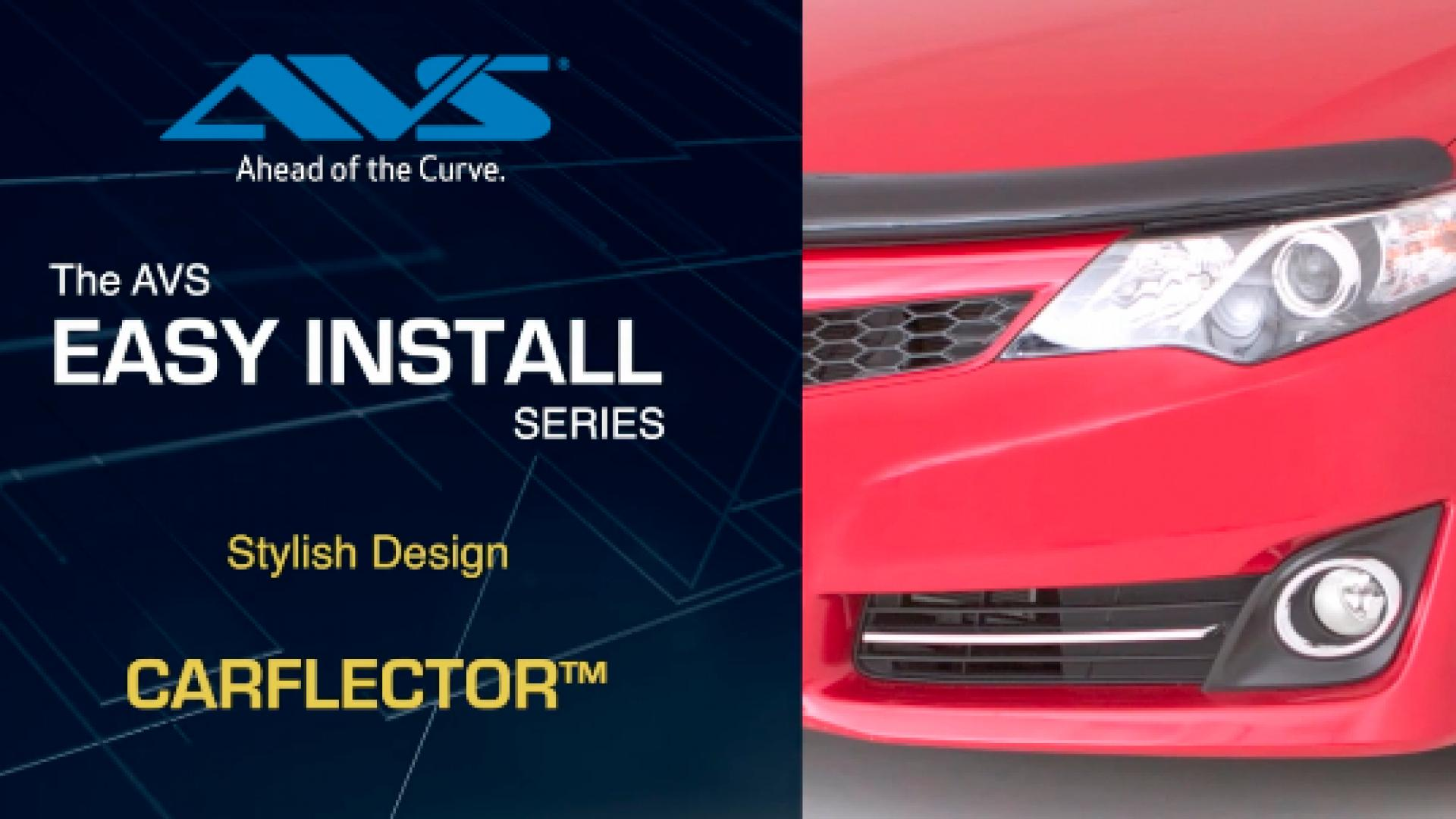 AVS Carflector Hood Shield installation video A step by step tutorial on how to install the AVS Carflector®.